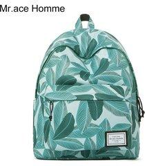 mochila de la moda de la mochila de la universidad de-verde