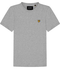 lyle and scott ts400vog lyle en scott plain t-shirt, d24 light grey marl