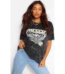 maternity acid wash 'preggaz' t-shirt, black