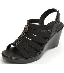 sandalia beta casual negro flexi