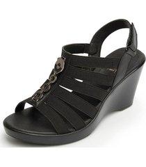 sandalia beta casual negro flexi