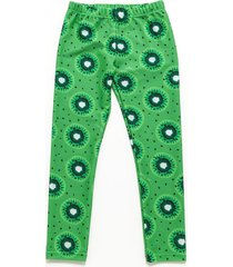 calza verde á croquer lycra estampada