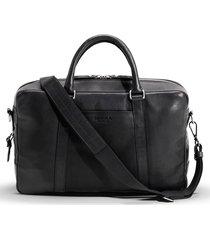 men's shinola signature leather slim briefcase - black