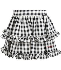 philosophy di lorenzo serafini kids multicolor skirt for girl with logo