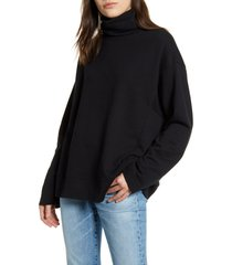 ag haven mock neck sweatshirt, size x-small in true black at nordstrom
