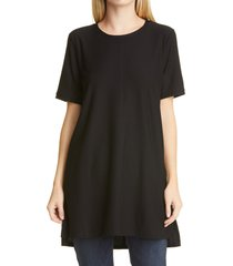 women's eileen fisher stretch crepe tunic, size xx-small - black