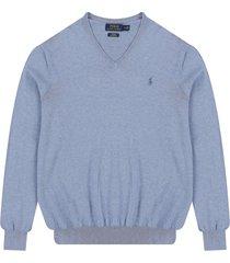 sweater new campus heather polo ralph lauren m/l unicolor c/v slim fit pima cotton ppc