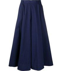 aspesi high-waist full skirt - purple
