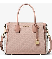 mk borsa a mano mercer media color block con logo - ballet multi - michael kors
