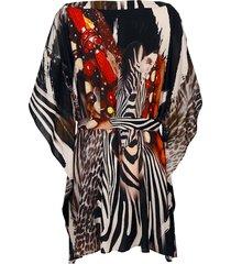 tunika alba moda brun/flerfärgad