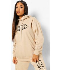 petite limited edition hoodie, sand