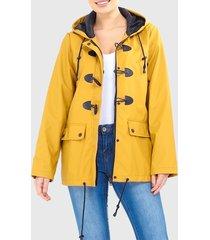 chaqueta brave soul amarillo - calce regular