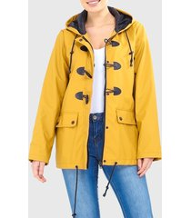 chaqueta brave soul amarillo - calce regular