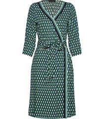 dress short 3/4 sleeve knälång klänning grön betty barclay