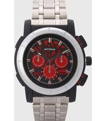 reloj gris-negro-rojo virox