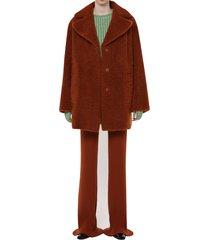 drome shearling midi coat