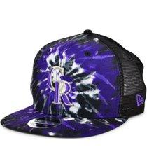 new era colorado rockies tie dye mesh back 9fifty cap
