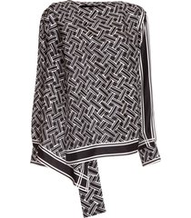bottega veneta geometric-print blouse
