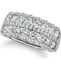 le vian vanilla diamond double row cluster ring (1-5/8 ct. t.w.) in platinum