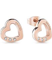 kolczyki w kształcie serca model hearted chain