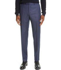 men's ermenegildo zegna trofeo wool twill dress pants, size 42 us/ 58 eu - blue