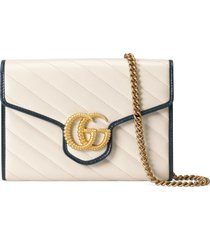 women's gucci gg torchon matelasse leather wallet on a chain -