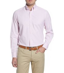men's big & tall eton soft casual line contemporary fit oxford casual shirt, size 18 - pink