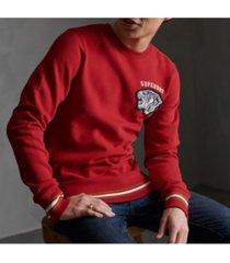 superdry varsity chenielle men's sweatshirt