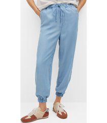 mango women's lyocell pants