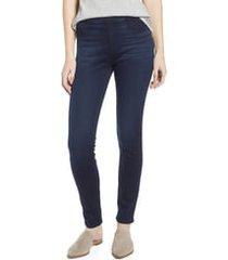 women's jen7 by 7 for all mankind comfort skinny denim leggings, size 16 - blue