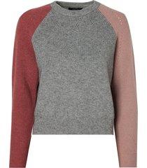 blusa rosa chá cor tricot colorido feminina (multicolored, gg)