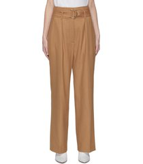belted pleated suiting pants