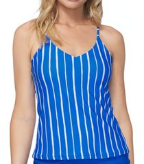 raisins juniors' shore thing macrame-back tankini top women's swimsuit