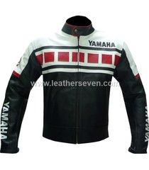 men mens yamaha black 6728 cowhide leather motorcycle motorbike biker jacket