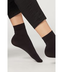 calzedonia 50 denier soft touch socks woman black size tu