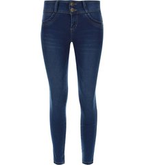jean mujer moda push up sin bolsillos color azul, talla 8