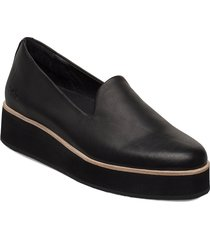 242g black leather loafers låga skor svart gram