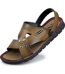 sandalias para hombre zapatos casuales material de pvc-khaki