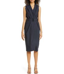 women's brunello cucinelli pleated crinkle cotton blend wrap dress