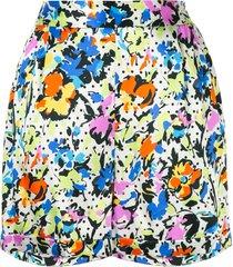 lelloue tailored silk shorts - multicolour