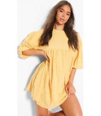 drop sleeve smock dress, yellow