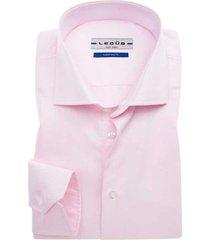 ledub overhemd roze tailored fit strijkvrij