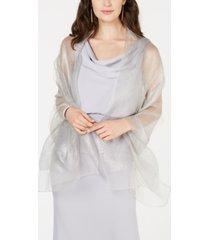 adrianna papell metallic wrap scarf