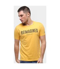 camiseta replay reimagined masculina