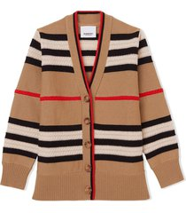 burberry beige cashmere and wool cardigan