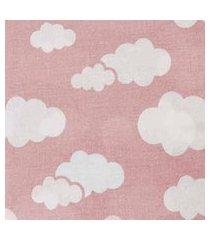 lençol para berço americano 70cm x 1,30m x 12cm alvinha ref.5799 / 5798 / 5797 - minasrey-rosa
