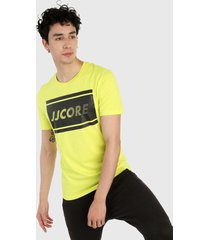 camiseta amarillo jack & jones