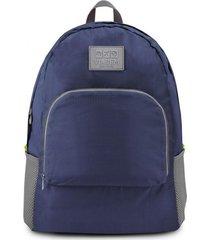 mochila dobrável de poliéster jacki design viagem azul escuro