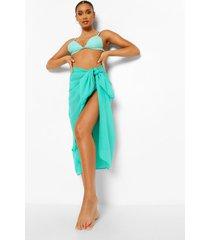 chiffon midi strand sarong, bright green