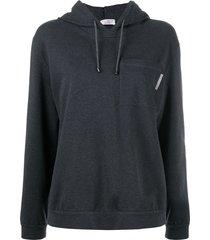 brunello cucinelli long-sleeved hoodie - grey